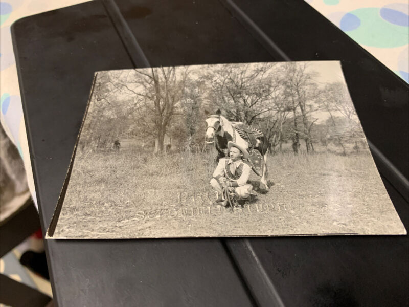Early Country Music Legend Hank Snow Horse Cowboy Photo