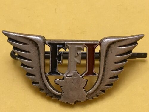 WWII French Resistance F.F.I. Badge- VERY VERY RARE