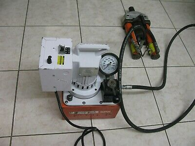 Spx Power Team Portable Electric Hydraulic Pump W Post Tension Jacks