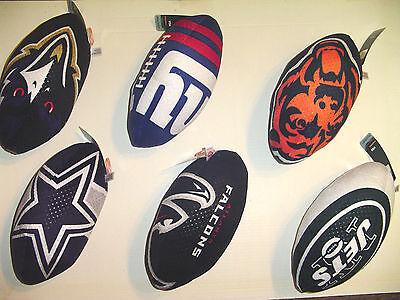 U Pick 1 TEAM TY Plush football Size NFL Logo Rush Zone Ball Party 11 - Nfl Party