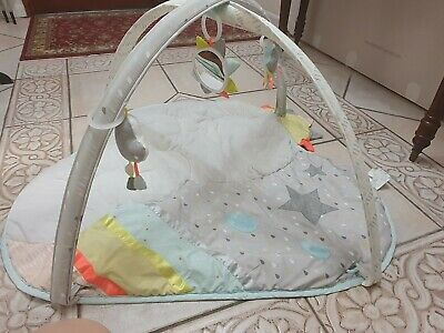 Skip Hop Silver Lining Cloud Baby Play Mat and Activity Gym VERY GOOD& CLEAN