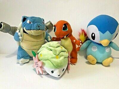 POKEMON Blastoise Piplup Charmander Shaymin Plush Toys Nintendo Tomy Lot of 4