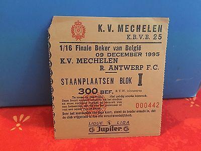 Football Ticket -  UEFA - KV Mechelen - Royal Antwerp FC - Jupiler League