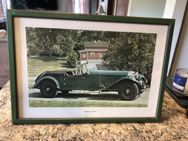 Vintage 1931 Green Bentley 8 Liter 1961 Color Photo Poster by Golden Press RARE