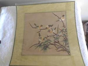 CHINESE SILK EMBRODERY OF BIRDS Pimpama Gold Coast North Preview