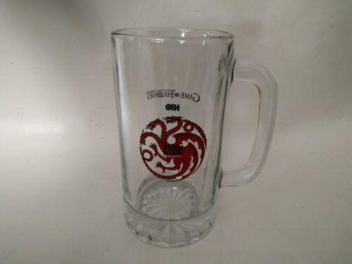 RARE  PROMOTIONAL GAME OF THRONES HBO GLASS BEER MUG FIRE & BLOOD TARGARYEN
