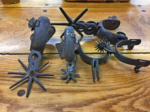 VINTAGE COLLECTION OF ODD WESTERN SPURS