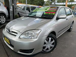 TOYOTA COROLLA SECA 2004 HATCH AUTOMATIC LONG MAY 2021 REGO LOW 174,659 KLMS** FREE 5 YEAR WARRANTY  Bass Hill Bankstown Area Preview