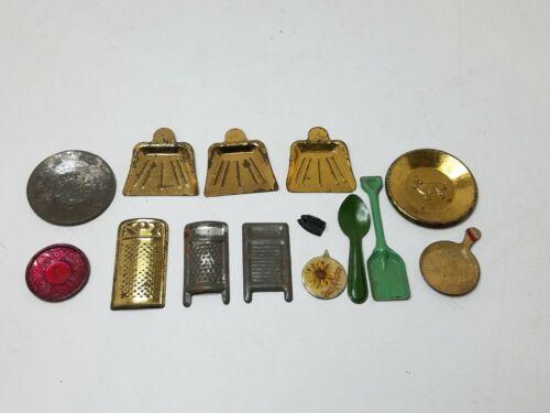 Vintage Cracker Jack?? Tin Household Toys.