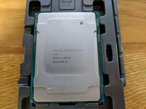 Intel Xeon Silver 4114 10 Core 2.20GHz (3.0Ghz) LGA 3647 85W CPU Processor SR3GK