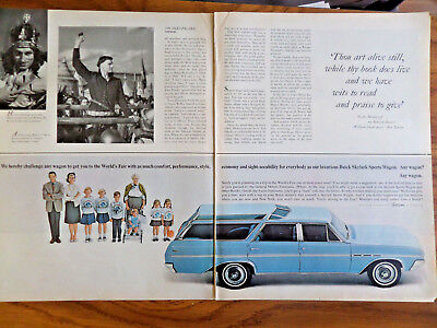 1964 Buick Skylard Sports Wagon Ad Get you to the World's Fair in Comfort