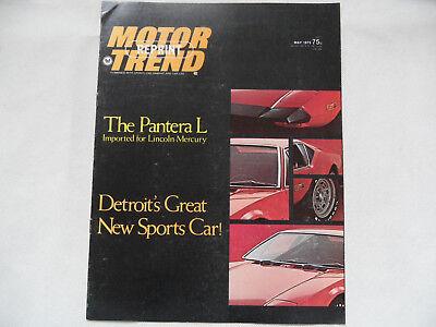 Prospekt brochure Motortrend Reprint May 1973 Pantera L SR918