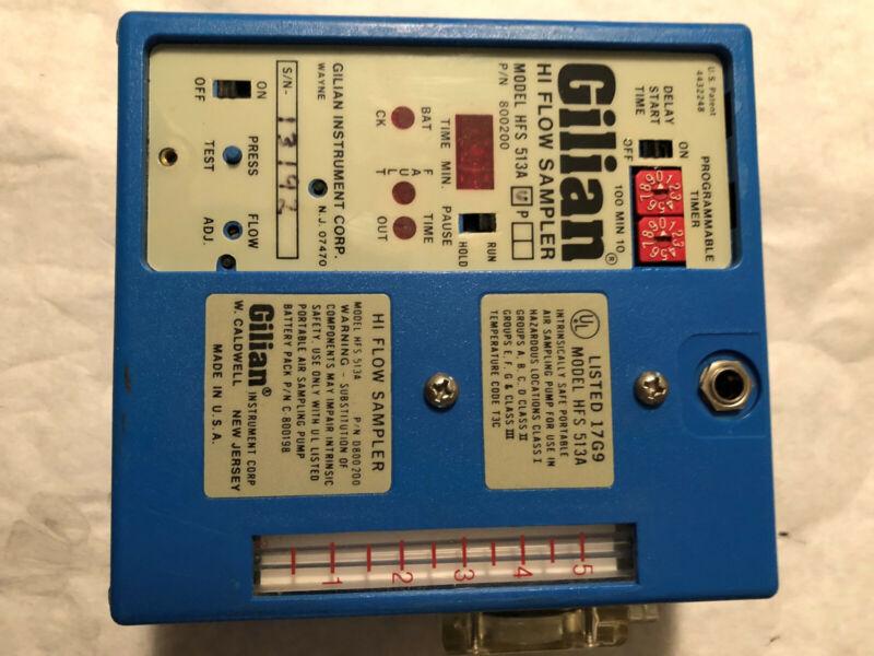 GILIAN HI-FLOW AIR SAMPLER HFS 513A BLUE