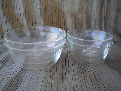 2 Pyrex Clear Glass 6 Oz. And 2 Large 10 Oz. Custard Cups 4 Count