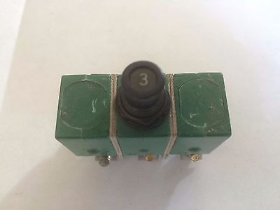 Klixon 6tc2-3 Circuit Breaker 3a Aircraft 3 Phase Airplane Aviation Ms14154-3
