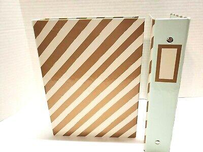 Mini Binder 3 Ring Binder Daily Planner Organizer 9 X 7 Stripes Set Of 2
