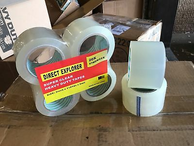 6 ROLLS, 3 Inch X 110 Yard 2 Mil Clear Heavy Duty Packing Tape Super Strong