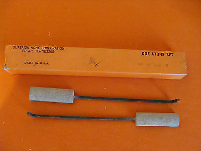 Nos Superior Hone Corporation Style A Honing Stone Set Coarse 14-8-180 Size 78