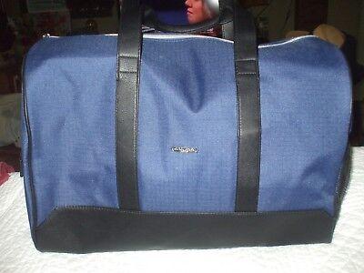 Giorgio Armani Parfums lrg blue black canvas duffel travel school gym shop tote