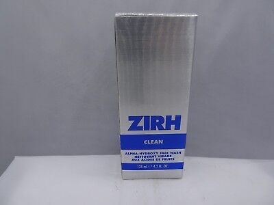 Zirh Clean Alpha-Hydroxy Face Wash, 4.2 oz Each New Boxed Lot Of 2