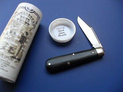 MINT GREAT EASTERN 151118 SPEAR BLACK MICARTA BOYS KNIFE