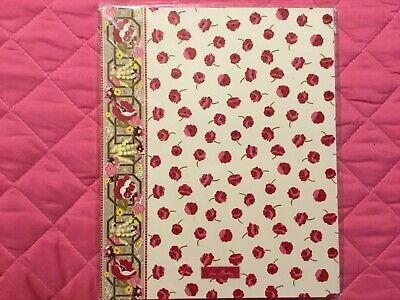 Vera Bradley Pocket Folders In Make Me Blush Nip