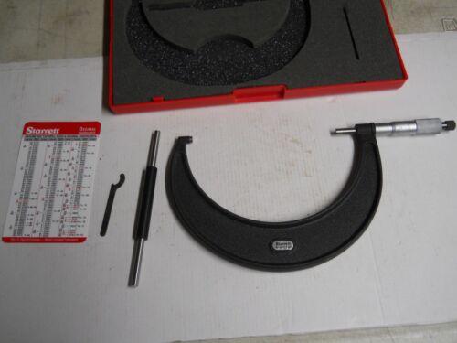 "Starrett #436-6   5-6""  Micrometer Carbide Tips, .0001"", Standard  slightly used"