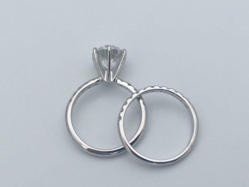Diamond Band Set Ring Certified 14k White Gold 2.3 Carat Anniversary Natural