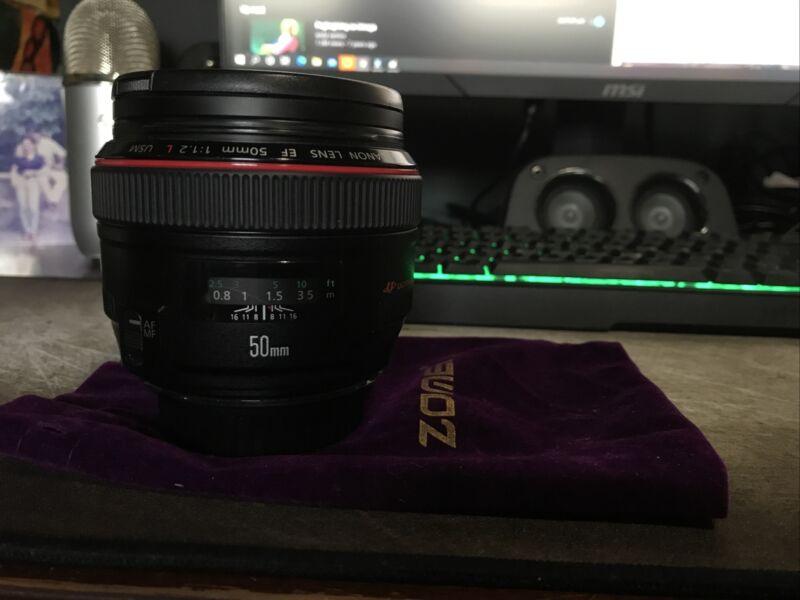 USED Canon EF 50mm F/1.2L USM #89