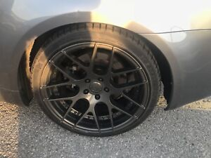 """19"""" 5x114.3 staggered with tires"""