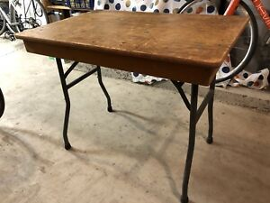 "Two Wood Folding Tables 36"" X 24"""
