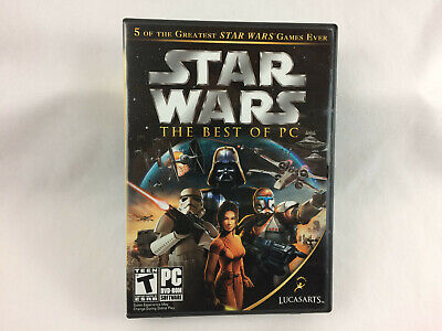 PC DVD - Star Wars: The Best Of PC, 5 Lucasarts Games in Case - USED (The Best Pc Case)