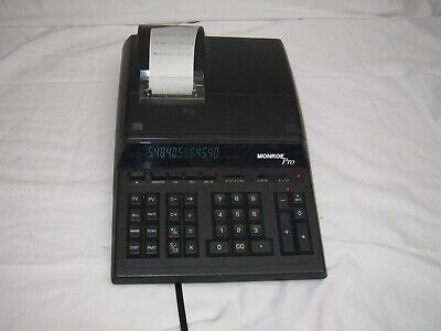 Monroe Pro accounting Printing Calculator red black register tape
