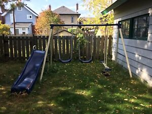 Free swing set! You disassemble it's yours!!