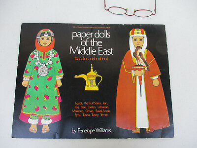 Middle East Paper Dolls Vintage Arab Fashion Dress Clothing Iran Iraq Vintage 78