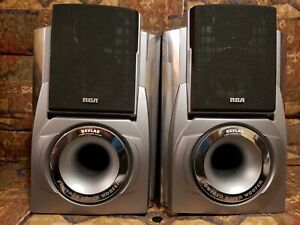 RCA Tabletop 3-Way Speaker System with Kevlar Power Subwoofer