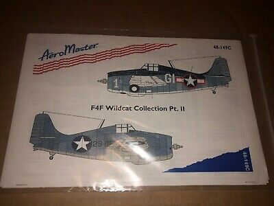 AeroMaster Decals 1/48 48-149C F4F Wildcat Collection Part 2 NOS 1995