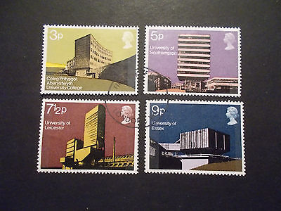 GB 1971 Commemorative Stamps~Universities~Very Fine Used Set~ex fdc~UK Seller
