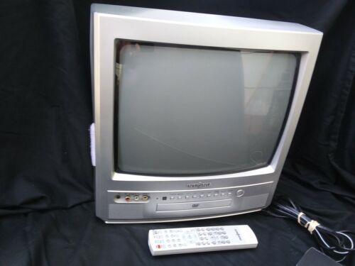 """Insignia, 13"""" Color TV/DVD Combo,  NS-13CTV w/ Remote Retro Gaming TESTED"""