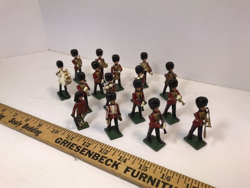 British Soldier Marching Band - 16 Pieces - Excellent Shape