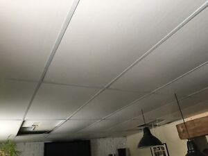 Drop ceiling tiles and rails