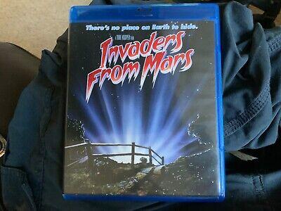 Invaders From Mars Blu-Ray  Scream Factory Tobe Hooper OOP
