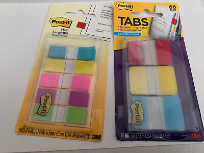 Post-it Flags And Tabs Value Combo Assorted Pack Of 66 Tabs 100 Flags