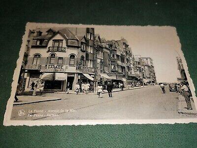 carte postale - la panne - avenue de la mer