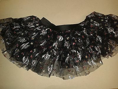 Ghosts for Halloween -Girls Black &Silver Tutu Skirt Hen Night/Party 6