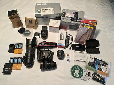 Canon EOS 5D Mark III Bundle (w/ lenses, batteries, flash, timelapse timer, etc)