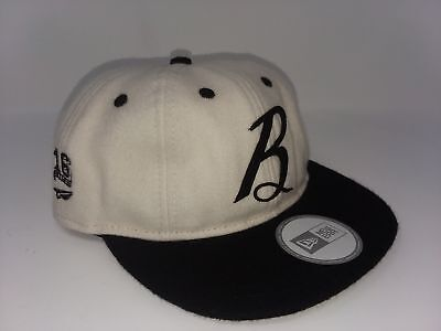 Benny Gold X New Era Vintage Script B Fitted Baseball Hat Off White 8  H34   50