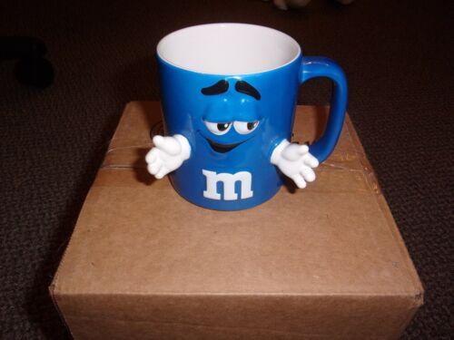 M&M - BLUE 3D MUG WITH  HANDS - FREE SHIP