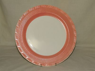 "Vintage Depression Glass Macbeth Evans Oxford Darker Pink 12"" Torte Plate Cake"