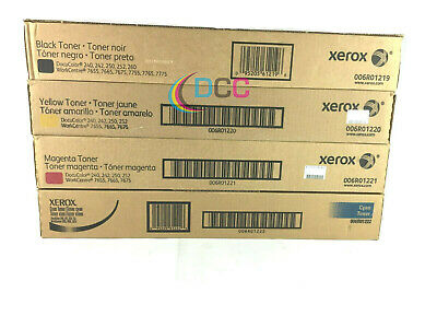 Genuine Xerox Docucolor Wc Toner Set Cmyk For 240242250252765576657675.